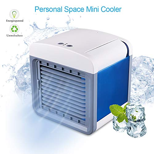 STLOVe Ventilador de Acondicionado Móvil 3 velocidades Interfaz USB Mini Aire...