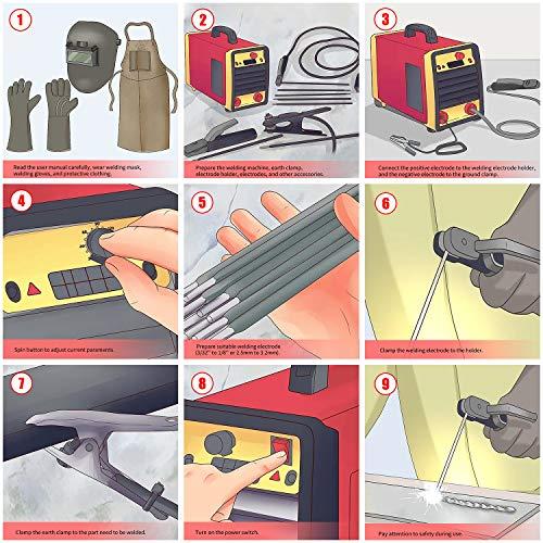 WETOLS 110/220V Stick Welder, 160A MMA ARC Welder Machine IGBT Digital Display LCD Hot Start Welding Machine with Electrode Holder, Work Clamp, Input Power Adapter Cable, Brush