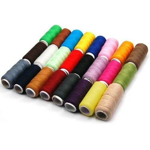 SODIAL(TM) 24 ¡Á Fils ¨¤ coudre/couture/en polyester/color¨¦