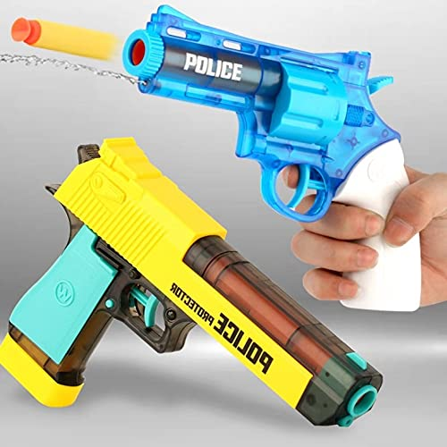 Metro Toys & Gift 2-in-1 Soft Bullet Gun and Water Gun with Handcuff, Police Badge,Child Police Role Play Toy Game Set for Kids .