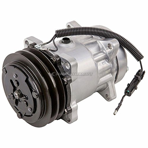 Secondary AC Compressor & 132mm A/C Clutch For Dodge Freightliner Mercedes Sprinter Van Replaces Sanden SD7H15 FLX 4434 - BuyAutoParts 60-02050NA NEW