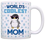 Mother's Day Gifts World's Coolest Mom Penguin Gift Coffee Mug Tea Cup White