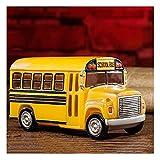 OMYLFQ Hucha Banco de la Moneda de la Vieja escuelas de la Vendimia del Vintage del autobús de la Escuela, Regalo de Juguete niños y niñas Día de los niños Regalo Contando Dinero Tarro