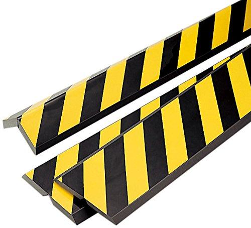 緑十字 コーナークッション 黄/黒(トラ) 200×1000×15mm 無反射 246020