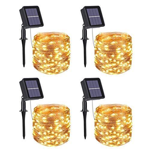 Flintronic Luces Navidad, [4 Pack]100 LED 10m de 33pies Guirnalda Luces Exterior...