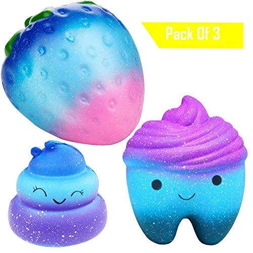 Desire Deluxe Squishies Set Galaxy Zahn Regenbogen Poo Galaxy Erdbeere Anti Stress Spielzeug Squishy Mit Duft Einfach Drücken Und Lieben Lernen