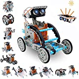 AceLife STEM Solar Robot Toy 12-in-1 Educational Science Experiment kit DIY Building Toy Construction Engineering Set for Kids Age 8-12 Boys & Girls Birthday Christmas Gift,Solar Powered Toy-Grey