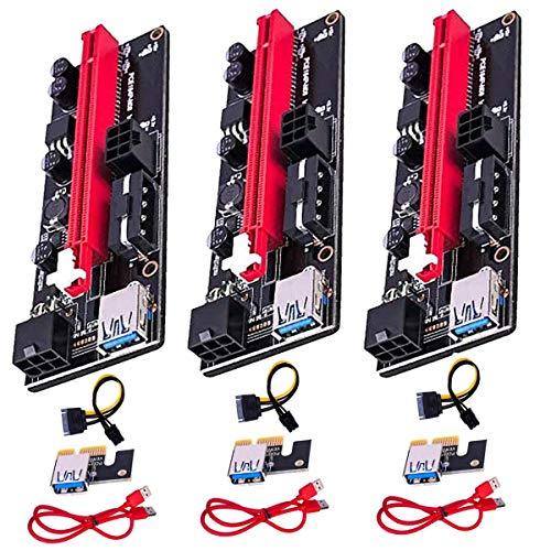 GPUマイニングパワードライザーアダプターカード用のPCIEライザー1Xから16Xグラフィックス拡張、60cm USB 3...