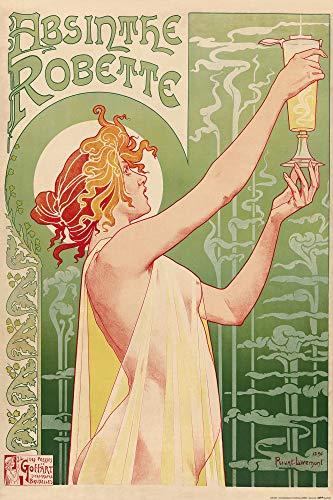 1art1 Historische Werbeplakate - Absinthe Robette, Henri Privat Livemont, 1896 Poster 91 x 61 cm