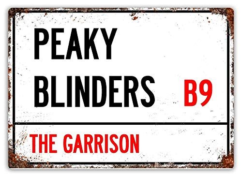 Wise Degree Peaky Blinders TV Show Metal Poster Pared Cocina Arte Cafeteria Garaje Tienda Bar Decoracion