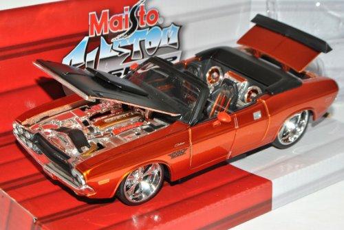 Maisto Dodge Challenger R/T Cabrio Orange Gold 1970 Tuning 1/24 Modell Auto