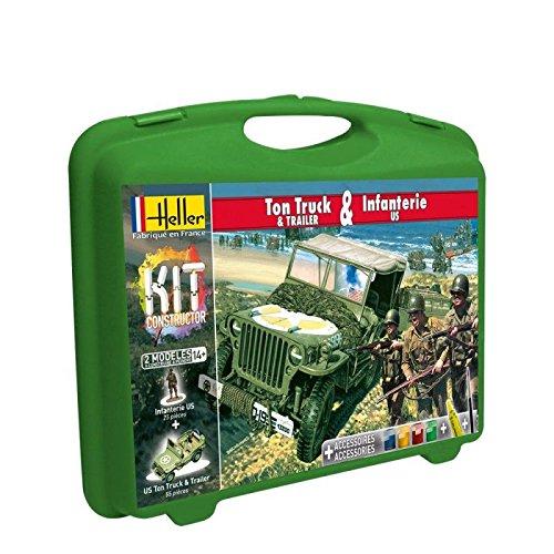 Heller - 60997 - Maquette De Voiture - Ton Truck & Infanterie Us - Petite Mallette - 102