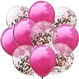 WUJIANCHAO 10 pcs/lot Mélanger Rose Or Confettis Ballons Fête d'anniversaire Décoration Enfants Adulte Métallique Ballon Boule D'hélium De Mariage Parti Décor