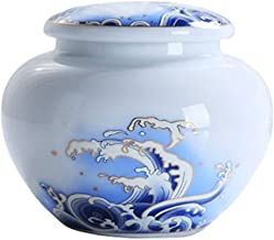 Cremation Urn for Ashes White Porcelain sea Wave Sealed Ceramic Ashes Fits a Small Amount of Cremated Remains - Display Bu...