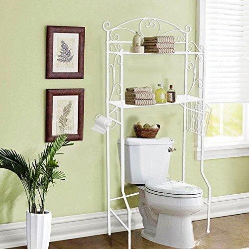 VDOMUS Bathroom Space Saver Storage Over the Toilet Wire Shelf Shelves, White