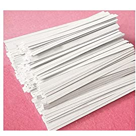 """Easytle 5"""" Paper White Twist Ties 100 Pcs 3 ★MULTIPLE USES 5"""" long, 0.16"""" wide, 1000 pieces. This is the preferred size for many uses including crafts, cords, cables, gardening plants and much more. Zip bags for bread, baked goods, storage, packing, garbage and trash. ★HIGH QUALITY these are ultra durable with an inner metal wire core. They hold up well for heavy duty use, home, business, industry and much more. These will last for years and can be reused many times. ★1000 PIECE SET to give you all the twist ties you need for every application. They store compactly and are there for you every time you need a top quality twist ties to organize and maintain cords, wires, possessions, deserts, snacks, and an endless array of uses."""