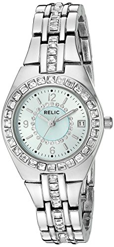 Relic by Fossil Women's Queen's Court Quartz Stainless Steel Dress Watch, Color: Silver-Tone (Model: ZR12161)