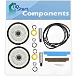2 12001541 Drum Support Roller Kit & 2 306508 Bearing Kit & 1 312959 Belt Replacement for Maytag LDE7500ACW Dryer - Compatible with 303373 & 306508 & WPY312959