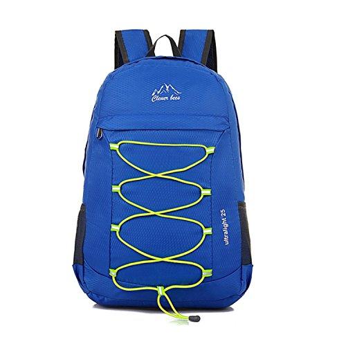 Randonnée sac à dos léger multifonctionnel extérieur pliable récréatif imperméable à l'eau Pack Dating shopping sac à dos sac de peau 4 couleurs H46 x W31 x T12 CM , blue