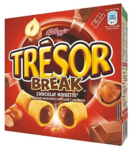 Kellogg's Tresor Tresor Pause Bar Schokolade Hazelnut 130G (Lot 10 x 3 Boxen)
