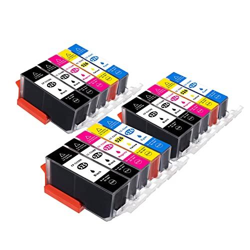 B-T Cartuchos de tinta de repuesto para Canon 525 526 PGI525 CLI526 XL para Canon PIXMA MG5150 MG5350 MG5250 IX6550 MX885 MX895 MX715 IP4950 IP4850 MG6150 (15 unidades)