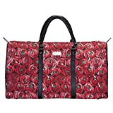 Signare Gobelin-Gepäcktasche für Reisen und Sport/große Reisetasche für Damen Sporttasche Damen mit Blumenmustern… (Rose und Träne)