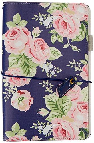 'Webster pagine navy floreale Travelers notebook (tj001-nf)