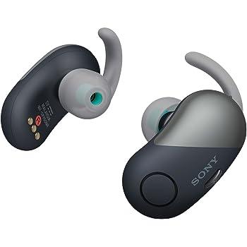 ソニー 完全ワイヤレスノイズキャンセリングイヤホン WF-SP700N : Amazon Alexa搭載 Bluetooth対応 左右分離型 防滴仕様 2018年モデル ブラック/ WF-SP700N BM