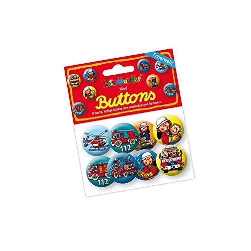 Lutz Mauder Lutz mauder67229Feuerwehr Benny Brandmeister Mini Button Set (8-teilig)