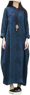 LZJN Women Coat Jacket Long Dress Chinese Cheongsam Style