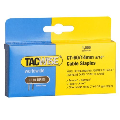 Tacwise CT-60/14mm Cable Tacker Staples (Boxed 1;000) by Tacwise