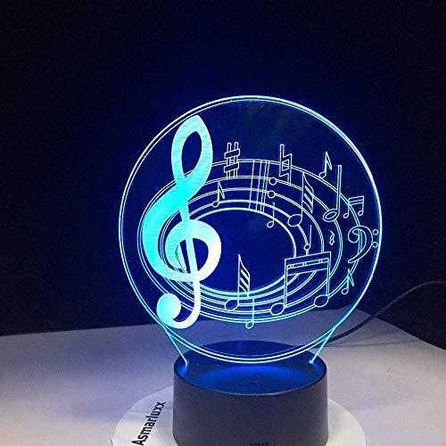 3D Illusions Luz Nocturna De La Noche Lámpara De Escritorio Nota 7 Colores Control Remoto Toque Juguetes Decoración Navidad Regalo De Cumpleaños