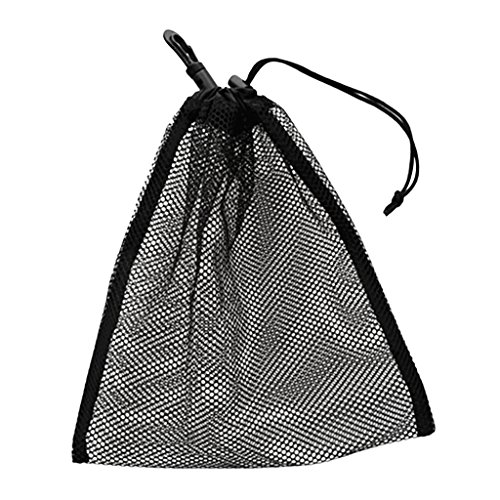 FLAMEER Balltasche Ballnetz Tragetasche Mesh Tasche für 30pcs Golf Tennis Bälle - Schwarz