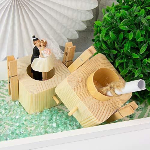 Beziehungskiste (2 Ringe) – zu zweit öffnen – gravierte Verpackung für Geldgeschenke für das Brautpaar – Geld verpacken für Hochzeitsgeschenke mit Gravur – Trickkiste personalisiert mit Namen - 6