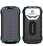 Elemental Tech Solar Power Bank Charger - Portable USB with 26800mAh, Qi Wireless