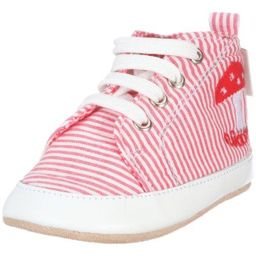 Adelheid Glückspilz Babyturnschuh 14110130688, Unisex - Kinder, Babyschuhe, Rot  (rot weiss streifen 698), EU 23