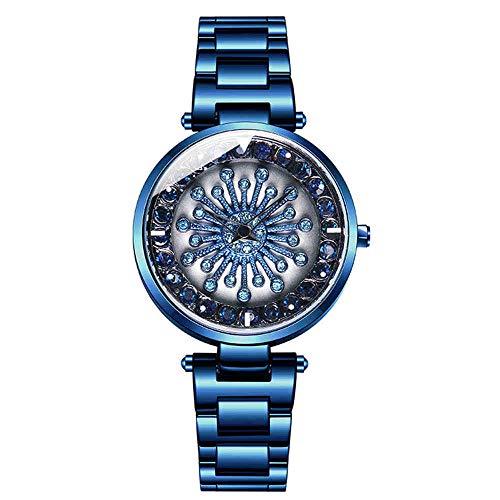 Relojes De Mujer Personalizados Cronógrafo De Cuarzo Analógico con Correa De Acero Inoxidable Y Esfera Romántica De Diamantes Gypsophila para Decoración De Moda