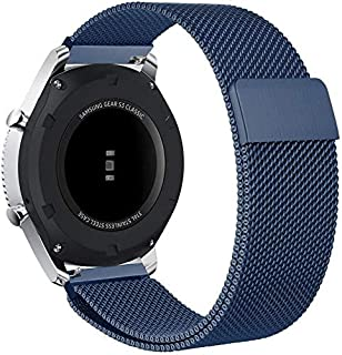 Elite Stainless Steel Loop Strap Wrist Band For Smart Watch Huawei GT2 / GT - Navy Blue