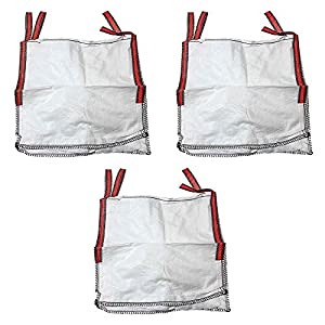 MIRTUX 3 Big Bag de 4 Asas reforzadas con Medidas de 85X85X90 cms. Carga máxima de 1.000 kgrs. Sacos Bolsas Ideales para Diferentes usos: escombros, jardinería, Tierra, Agricultura, Basura, Madera…