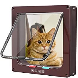KAIKUN Dog Flap Dog Flaps Medium Pvc Door Stair Gate With Cat Flap Smart Cat Flap Dog Flaps For Doors Cat Flaps For Wooden Doors Cat Flaps For Doors