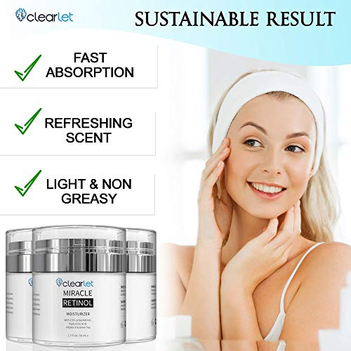 51re6l7GxfL - Retinol Cream for Face Moisturizer for Women Men Anti Aging Face Wrinkle Cream Retinol Facial Eye Cream Reduces wrinkles Fine Lines Day Night Facial Creams Retinoid Mens Retinol Moisturizer for Face