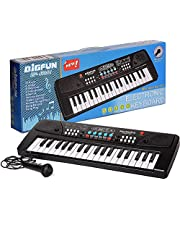 Amisha Gift Gallery® 37 Key Bigfun Piano Keyboard Toy for Kids with Mic Dc Power Option Recording Charger not Included Best Birthday Gift for Boys and Girls 2019 Latest Model