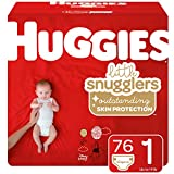 Huggies Little Snugglers Baby Diapers, Size 1, 76 Ct