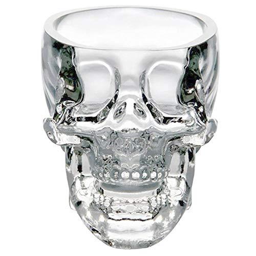 Aeromdale 3D-Kristall-Schädel-Form, Knöchelhalter, 73 ml, Kristall-Totenkopf-Design, Weinglas-Tasse für Zuhause/Bar/Party