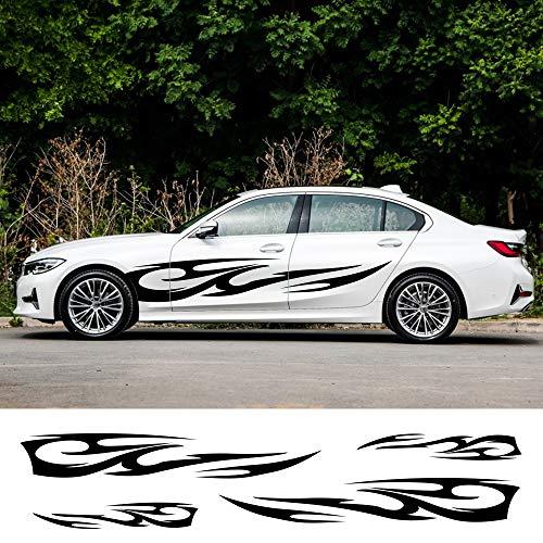 JIERS Für Ford Focus 2 3 1 MK2 MK3, Für Honda Civic, Für Kia Sportage, Autotür Seitenaufkleber Vinyl Motorhauben Aufkleber Autoaufkleber
