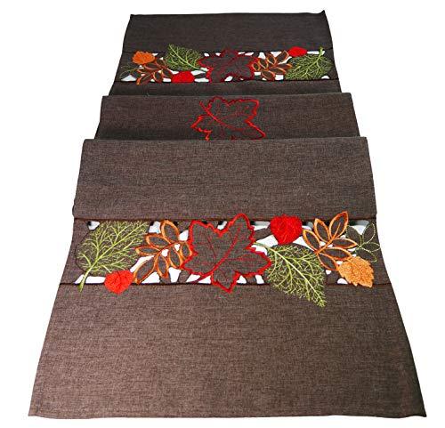 khevga Tischläufer Herbst braun 40x140 cm (Braun)