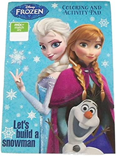 Disney Frozen Farbeing & Activity Pad  Let's Build a Snowman (2014; Exclusive Printing; 5.25 x 7.75 )