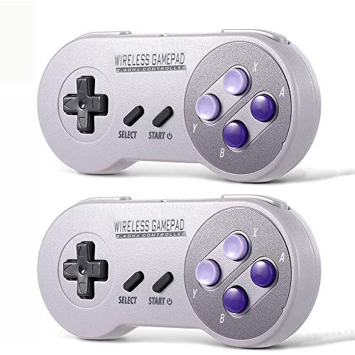 SNES Wireless Controller (2ps), Game Controller with USB Wireless...