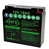 Batteria AGM Al Plombo Ricaricabile 12V 18Ah VRLA Per allarmi antifurti, sistemi di sicurezza, Batterie di ricambio per UPS USV, Solar, Solarpanel