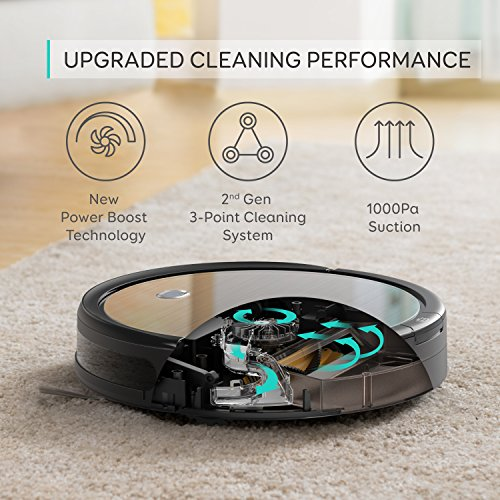 eufy [BoostIQ] RoboVac 11+ (2nd Gen: Upgraded Bumper Suction Inlet) High Suction, Self-Charging Robotic Vacuum Cleaner, Filter Pet Fur, Cleans Hard Floors to Medium-Pile Carpets